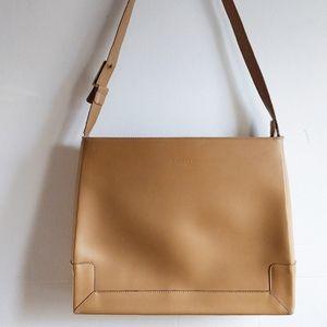 Milano structured leather handbag camel